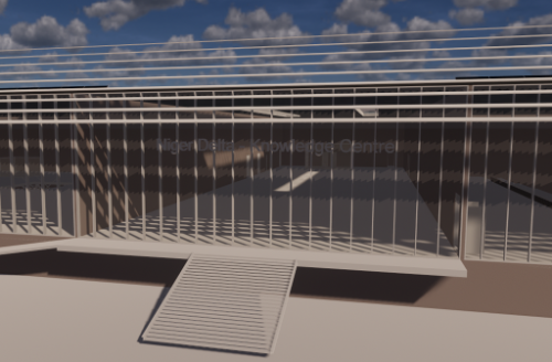 3d Model Plan of the Multi-Purpose NDKC Centre