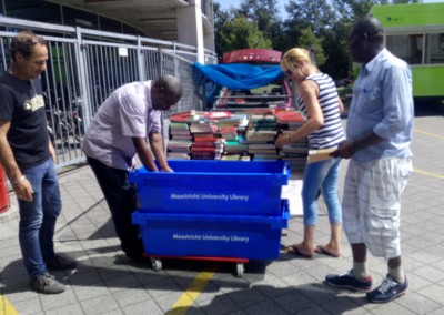 NDKC team collecting academic books by Maastricht University